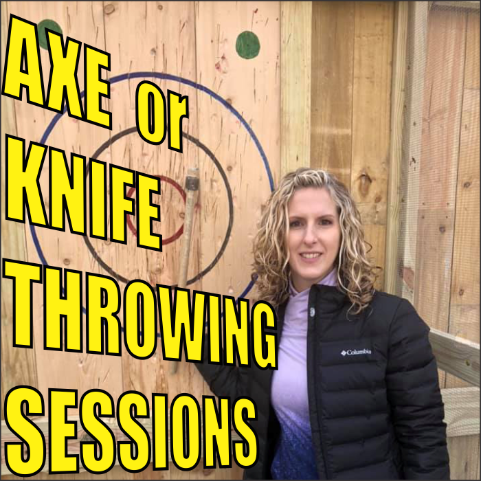 Tomahawk Hill Axe or Knife Throwing Session Ages 4+